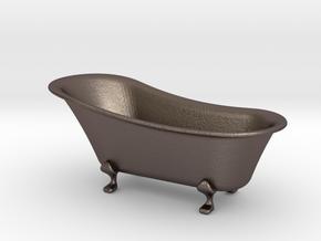bathtub 1-12  in Polished Bronzed Silver Steel