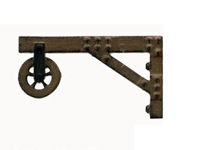 PULLEY or HOIST for Building Wall, HO Scale in Smooth Fine Detail Plastic
