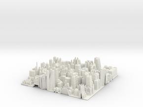 City Slice in White Natural Versatile Plastic