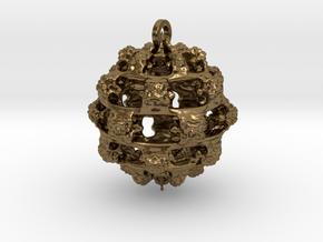Integer Fractal Pendant in Natural Bronze