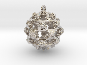 Integer Fractal Pendant in Platinum