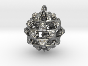 Integer Fractal Pendant in Natural Silver