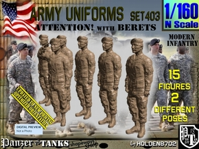 1/160 Modern Uniforms Set403 in Smooth Fine Detail Plastic
