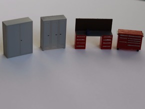 HO Scale Workshop Interior Details in Smooth Fine Detail Plastic