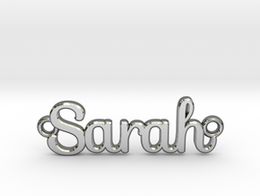 Personalised Name Pendant in Fine Detail Polished Silver