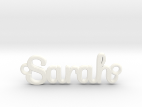 Personalised Name Pendant in White Processed Versatile Plastic