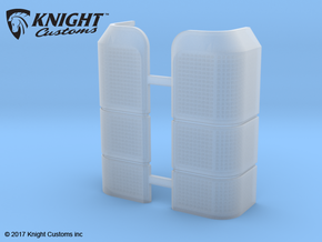 AC10009 SCX10 II XJ CHEROKEE Rear Light Lens in Frosted Ultra Detail