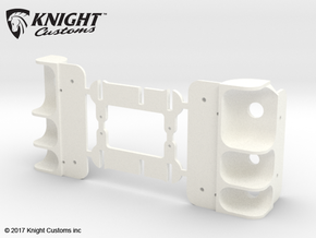 AC10008 SCX10 II XJ CHEROKEE Rear Light Housing in White Processed Versatile Plastic