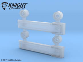 AJ10004 Rear Door Hinges (SCX10) in Smooth Fine Detail Plastic