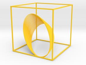Cassini Grand Finale - cube in Yellow Processed Versatile Plastic