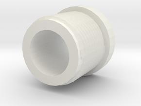 14mmx1 Negative Muzzle Thread Interface in White Natural Versatile Plastic