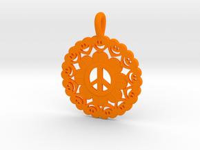 27- HEARTFACE- CIRCLES in Orange Processed Versatile Plastic: Small