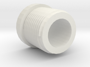 14mmx1 Positive Muzzle Thread Interface in White Natural Versatile Plastic