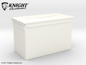 FA30005 1/10 scale Ammo Box in White Processed Versatile Plastic