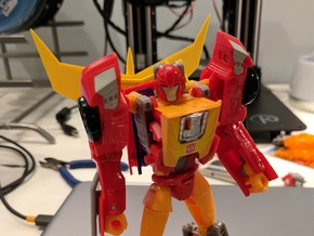 G1 Spoiler for Titans Return Hot Rod in Yellow Processed Versatile Plastic