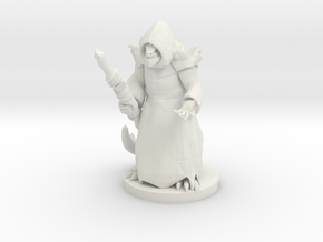 Lizard Folk Druid in White Premium Versatile Plastic