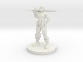 Heavy Weapon Lady Fighter in White Natural Versatile Plastic