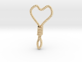 Hung Up Heart in 14k Gold Plated Brass