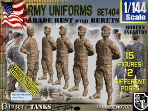 1/144 Modern Uniforms Set404 in Smooth Fine Detail Plastic