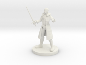 Human Male Blade Warlock in White Natural Versatile Plastic