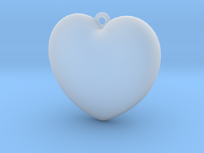 Heart-Pendant in Smooth Fine Detail Plastic