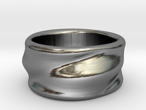 Flow Ring in Polished Silver: 6 / 51.5