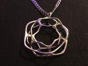 Hex Möbius, 32mm in Rhodium Plated Brass
