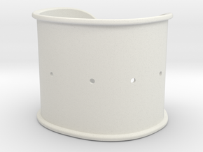 """Cuff Band Only - Bent (for wrists 2""""W x 1.5""""H) in White Natural Versatile Plastic"""
