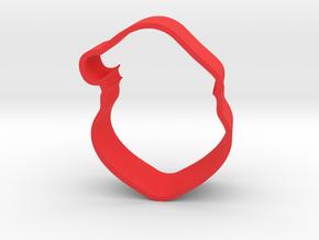 Santa Cookie Cutter in Red Processed Versatile Plastic