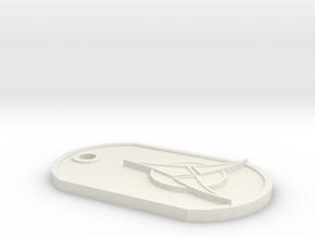 Klingon in White Premium Versatile Plastic