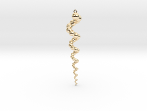 Sphere Cone Helix Pendant in 14K Yellow Gold