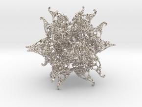JkT Fractal in Rhodium Plated Brass