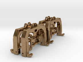 (4) GREEN 3 POINT CAT 3/4N  QUICK HITCH - BR in Natural Brass