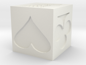 Trump Cube in White Natural Versatile Plastic