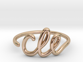 CLE Wire Ring (Adjustable) in 14k Rose Gold Plated Brass