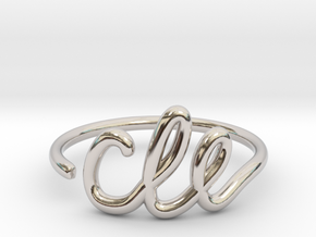 CLE Wire Ring (Adjustable) in Rhodium Plated Brass