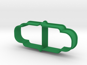 Plate 26 cookie cutter for professional in Green Processed Versatile Plastic