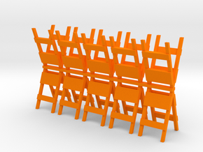Barricade 1-87 HO Scale (10) in Orange Strong & Flexible Polished