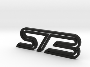 Ford Focus ST3 badge in Black Natural Versatile Plastic