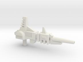 Gyro-Blaster Rifle for Titans Return Blitzwing in White Premium Versatile Plastic