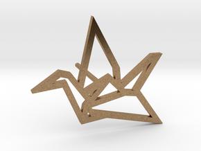 Earring Crane - left in Natural Brass