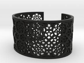 Bracelet Fatehpur Sikri India - size M (177mm) in Black Premium Versatile Plastic