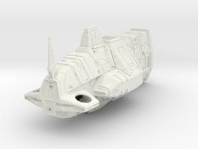 """Kuudark"" Assault Frigate in White Natural Versatile Plastic"