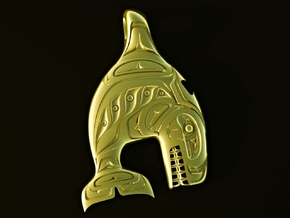 Haida Gwaii - Killer Whale in Polished Brass