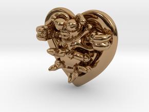 Lovebug Necklace Charm in Polished Brass