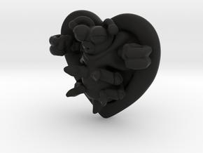 Lovebug Necklace Charm in Black Natural Versatile Plastic