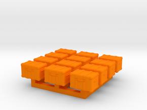 1/87 Scale Ham Radio GO-Box Deeper Cases in Orange Processed Versatile Plastic