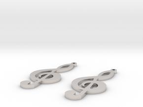 treble clef earrings in Platinum