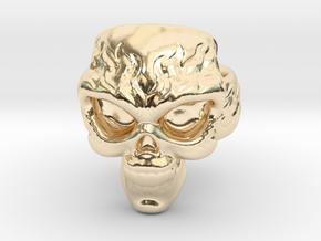 Elemental Skull Ring 'Fire' in 14K Yellow Gold