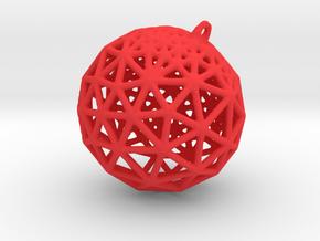 Platonic Pendant #1 in Red Processed Versatile Plastic